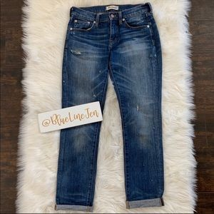 Madewell Slim Boyfriend Distressed Jeans
